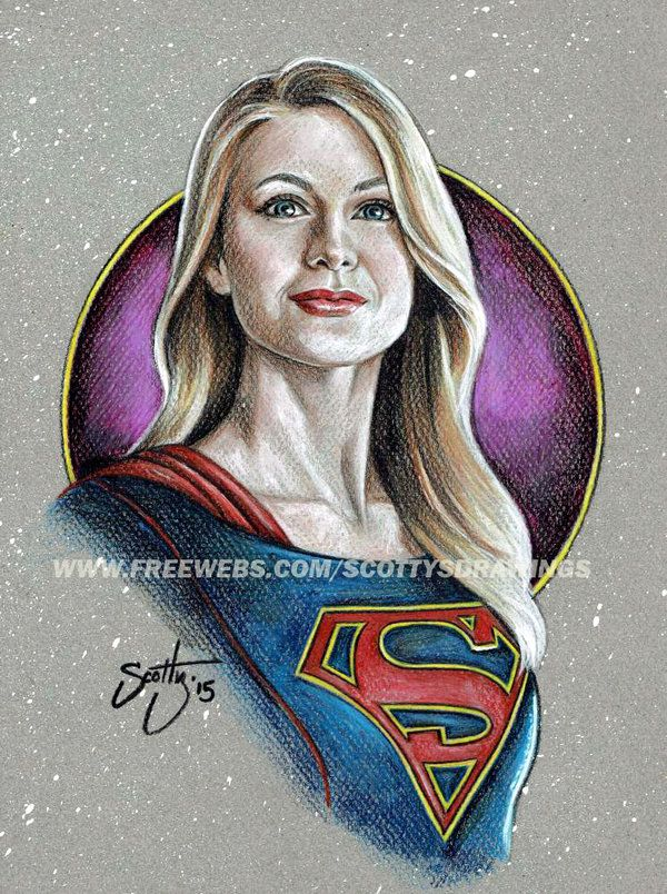Melissa Benoist CBS Supergirl art. http://scotty309.deviantart.com/art/Supergirl-2015-528992222
