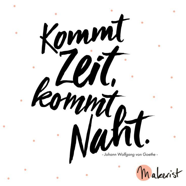 Kommt Zeit, kommt Naht - via Makerist.de