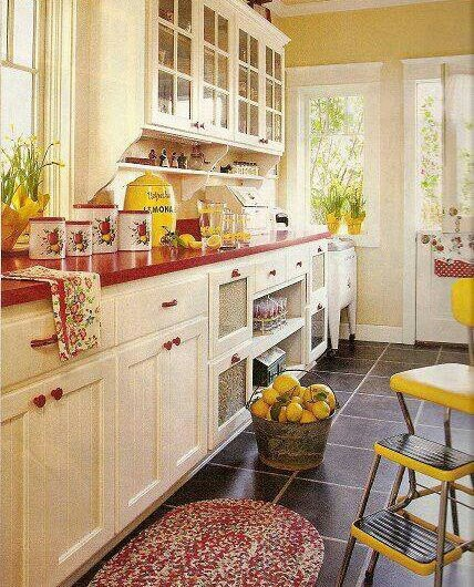 53 Best Red Country Kitchen Images On Pinterest