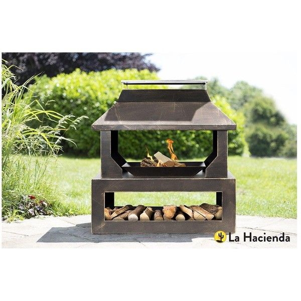 La Hacienda Stonehurst Outdoor Heater With Logstore ($205) ❤ liked on Polyvore featuring home, outdoors, outdoor decor, outdoor garden decor, garden sun heater, outdoor patio decor, outdoor sun decor and outside garden decor