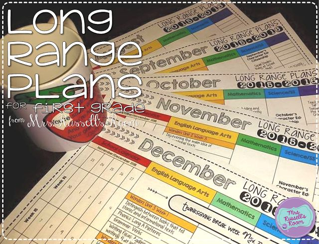 Long term planning is key! Grab these long term plans for first grade for FREE