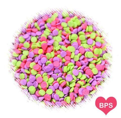 Neon Fun Mini Polka Dot Quin Sprinkles