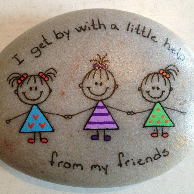 #artrocks #cute #friends #happy #happyrocks #instaart #instaartist #iloverocks…