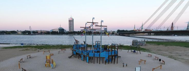 This Santa Maria playground ship is located in Riga, Latvia