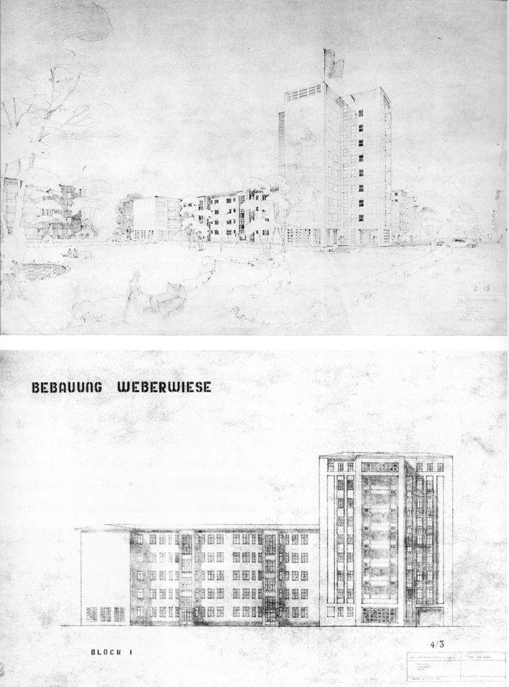 Richard Paulick, Entwurf; Hochhaus an der Weberwiese, 1951