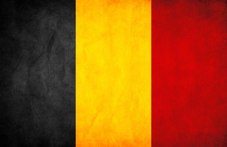 Grunge flag Belgium