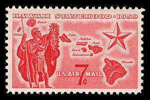 1959 stamp. The year of Hawaii's annexation.