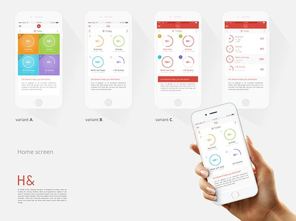 Integrative Oncology Medical Tracker on Behance