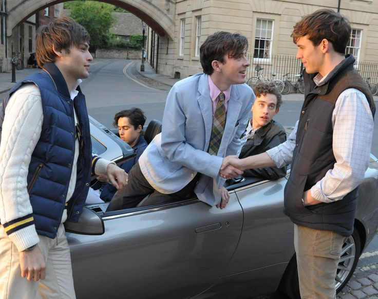 The Riot Club are off for a drive.