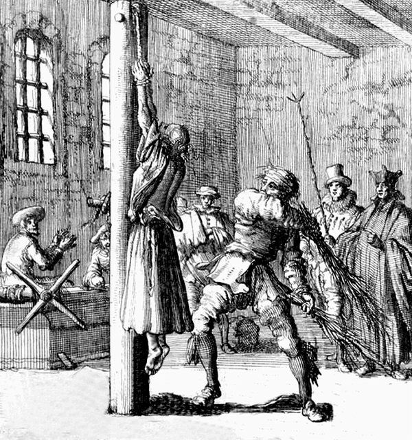 Whipping Of An Incarcerated Delinquent, Germany 17Th -3837