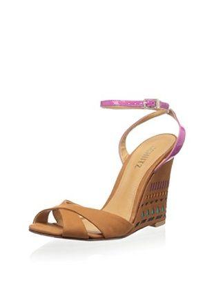 50% OFF Schutz Women's Glenda Ankle Strap Sandal (Bronze/Berry)