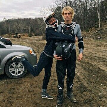 Tyler and James behind the scenes on Eyewitness