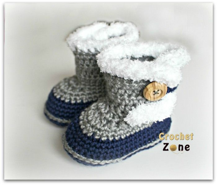 Fuzzy Booties by Crochet Zone -Free Crochet Pattern