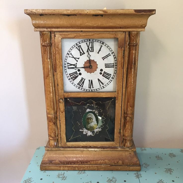 Waterbury Clock Co. Weight Clock Converted To Battery Operated