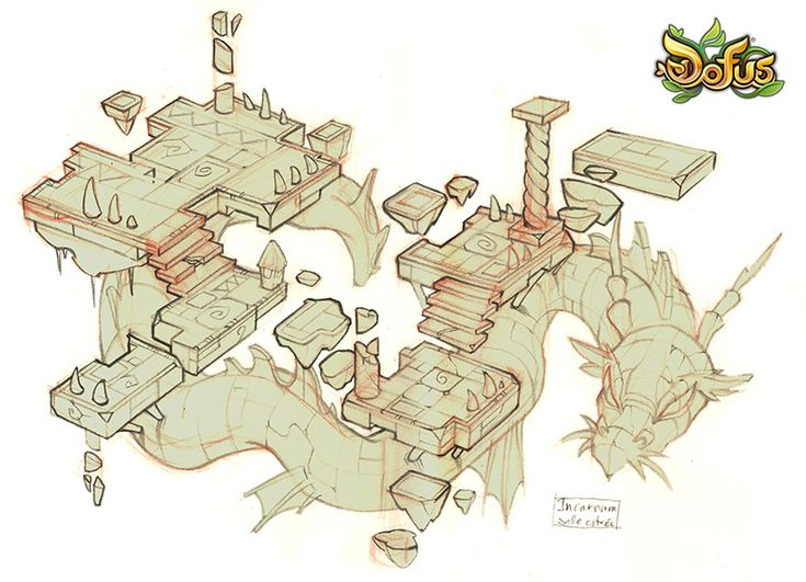 DOFUS RESEARCH Incarnam sketches