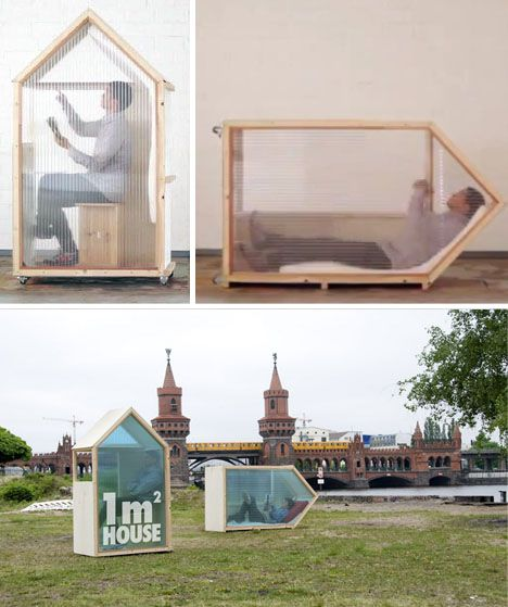 one square meter house...this is just different...but I understand the concept....kinda.....