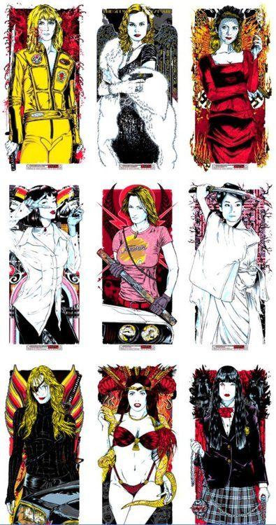 From Dusk Till Dawn   Fan Art   The Women of Tarantino films.