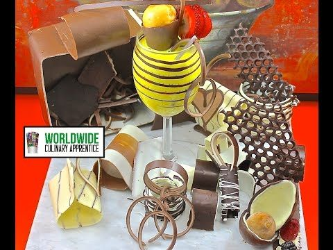 A Chocolate Treasure - How to make Chocolate Garnish Decorations for Desert Plating - YouTube