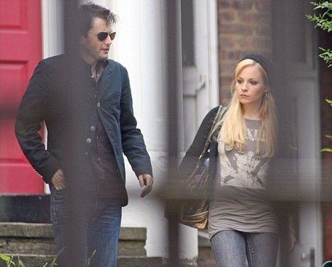 Old article (pre-kids) about DT - but interesting. Photo: David Tennant leaves his North London home with Georgia Moffett