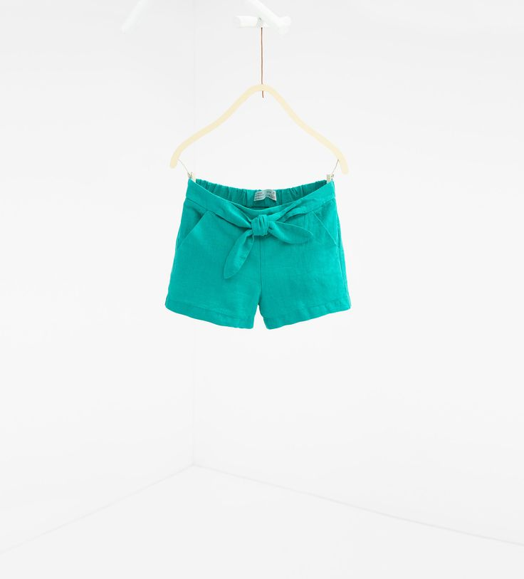 Tie-up Bermuda shorts