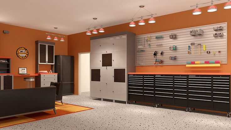 Man Cave Storage Cabinets : Storage shelves man cave garage organization systems