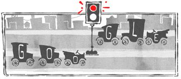 Google Doodle 101th anniversary of 1st traffic light