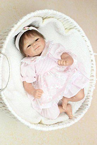 Nicery Morbido Silicone Bambola Reborn Bambino 18inch 45 Centimetri Magnetica Bella Giocattolo Realistica Ragazzo Sveglio Ragazza Sorriso Di Rosa Baby Doll A3IT