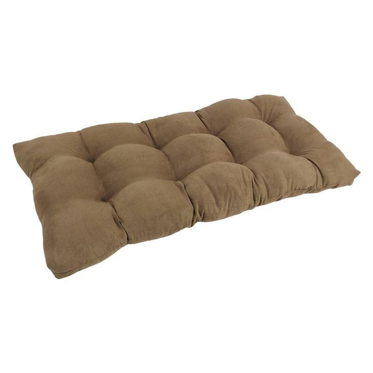 Blazing Needles Microsuede Indoor Bench Cushion Java - 94006-LS-MS-JV