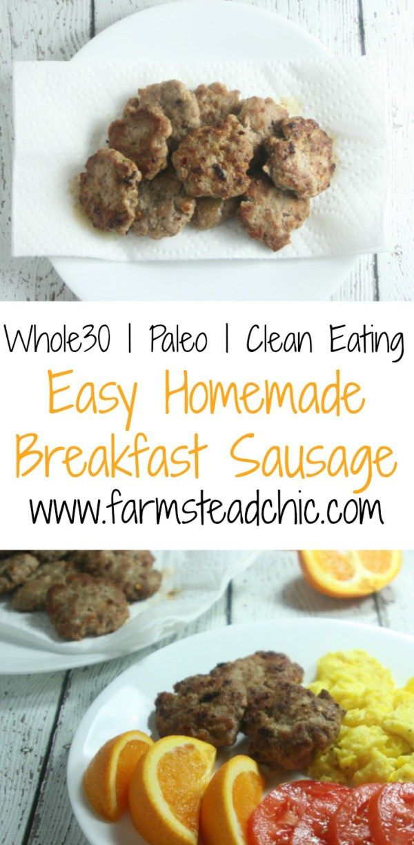 This Paleo & Whole30 Breakfast Sausage is so easy to make and tastes even better than the sugar-laden supermarket brands!