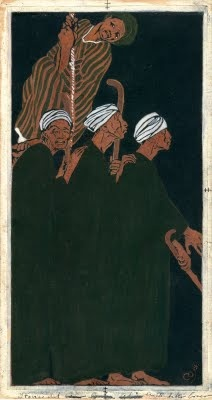 Arabian Nights - Temperas on paper by Duilio Cambellotti (1912-1913)