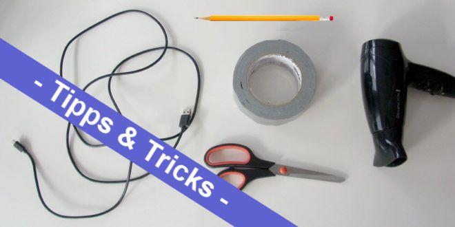 DIY Life Hacks – ein Spiralkabel für das Handy ruck zuck selber gemacht