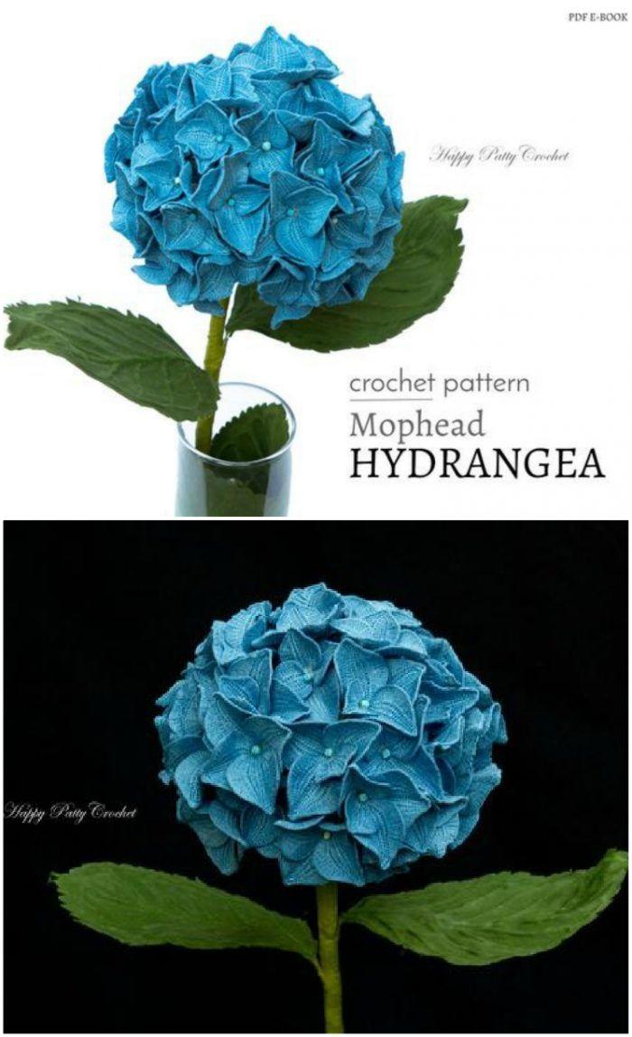 Crochet Hydrangea Flower Pattern Free Video Tutorial Crochet Flowers Free Pattern Hydrangea Flower Crochet Flower Patterns
