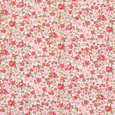 Cotton Flower Zeeland 3 - Bomullstyg med blomstermotiv - Bomullstyger 65kr/m