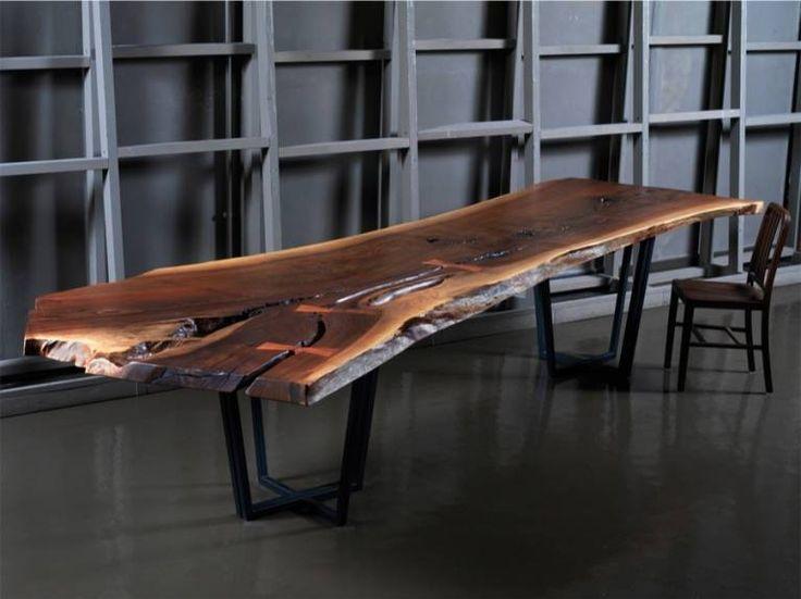 Tavoli in legno grezzo (Foto 2/40)   Designmag