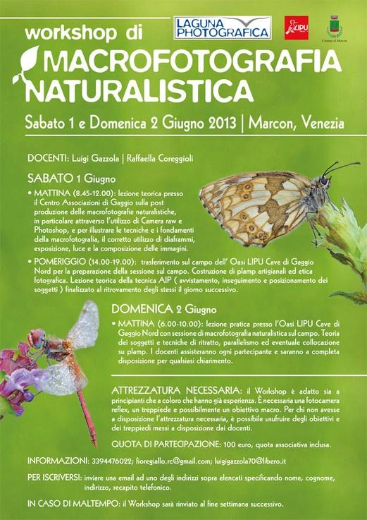 Workshop macrofotografia naturalistica