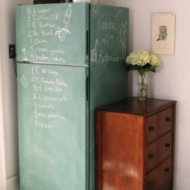 We should do this for the kids with our spare fridge in the garage 