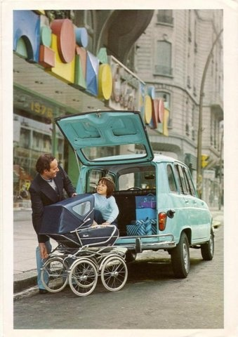 renault 4. no place to put your child