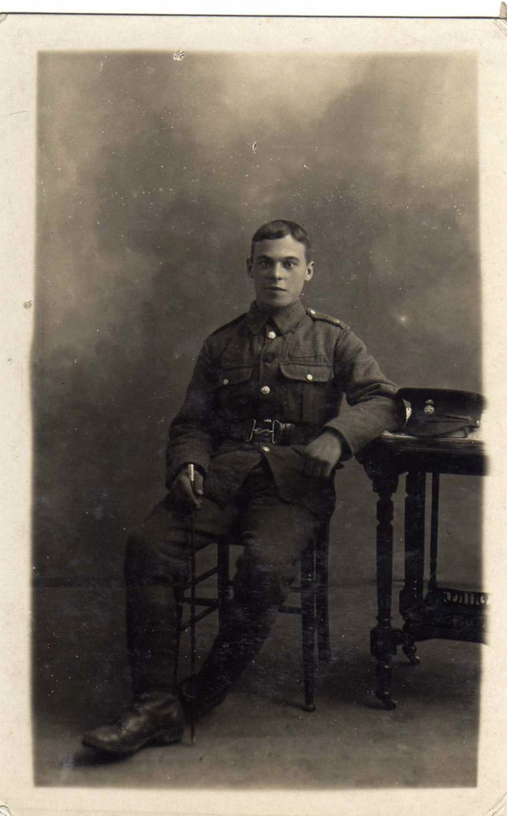 RWF solider taken by A.L. West & Co, Winchester. This is likely to be a member of the 38th (Welsh) Division as they completed their final training at Winchester prior to embarkation for France in 1915.
