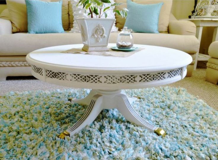 Round Painted Coffee Table 86 Best Tables Images On Pinterest Refurbished Furniture