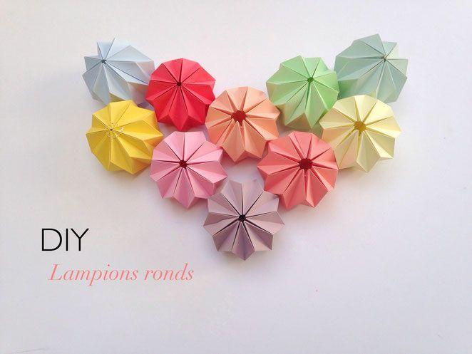 #DIY LAMPIONS RONDS - Site de ccfaitdessiennes1 !