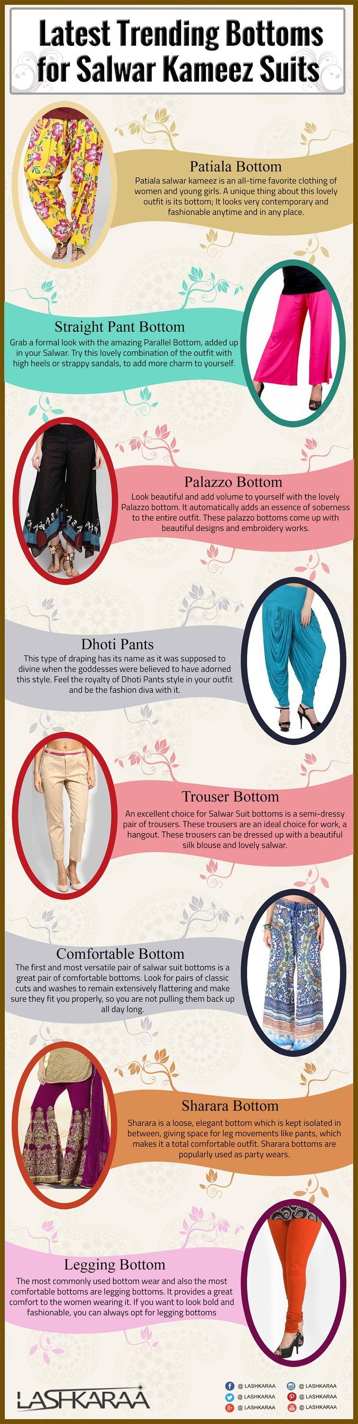 bottoms for kurti or kameez