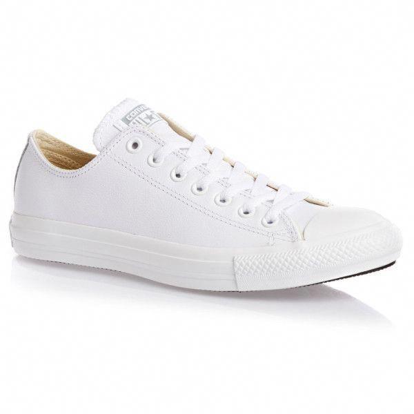 converse all star chuck taylor blanc cuir blanche
