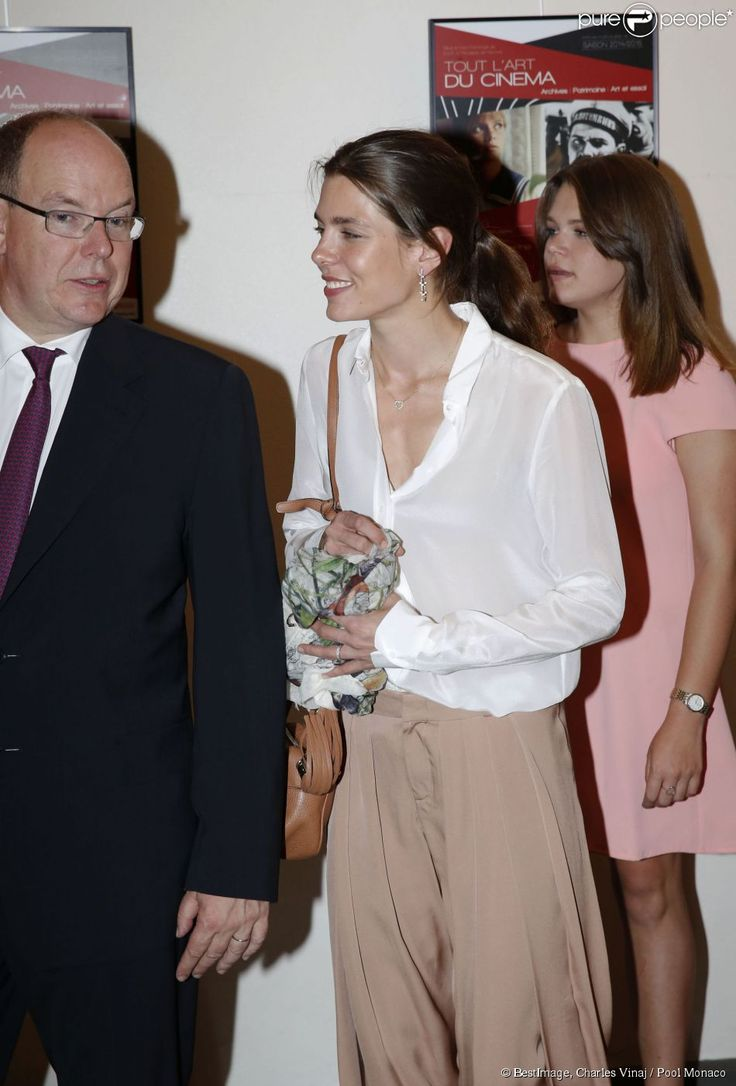 MyRoyals: Prince Albert with his nieces Charlotte Casiraghi and Camille Gottlieb, June 24, 2015