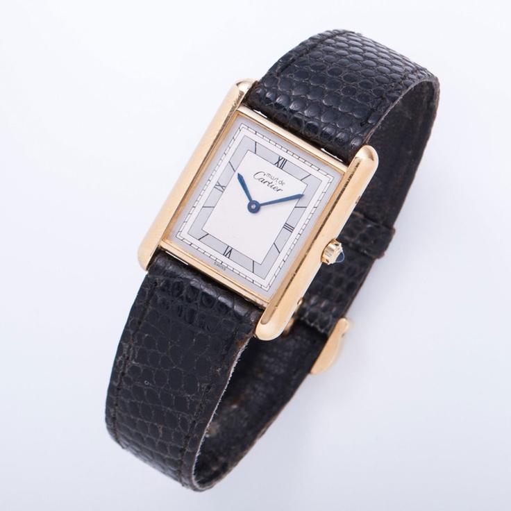 Cartier Ladies' Must De Cartier Watch In Gold & Dark Brown - Beyond the Rack