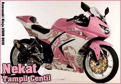 Pink Ninja 250 | Pink Kawasaki Ninja 250R Costum Modification | Motorcycles and Ninja ...