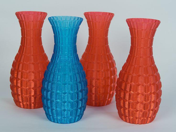 Vázy z transparentního PETG, vase mode.