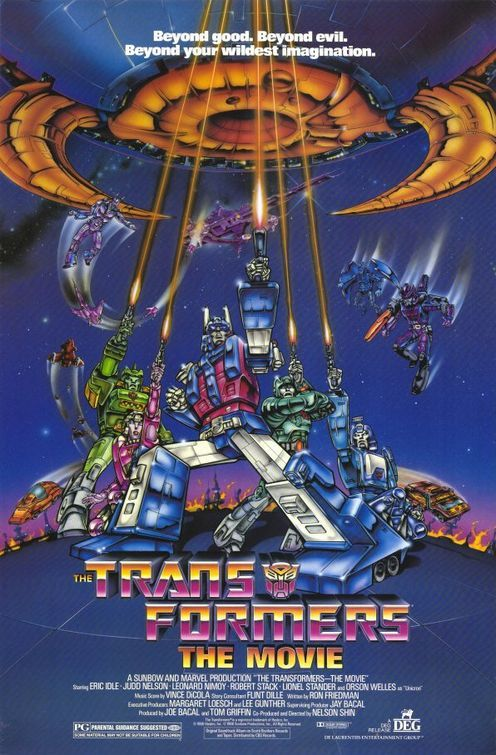 The original Transformers movie. I think it was the first a kids cartoon killed off characters. The Ironhide death scene was brutal for its time.