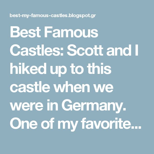 Best Famous Castles: Scott and I hiked up to this castle when we were in Germany. One of my favorite places. Schloss Lichtenstein, Germany. Geirangerfjord, Norway! Want to explore the breathtaking serenity of #Europe? Find out a best #travel insurance today at www.insureants.com and transform your dreams into reality...