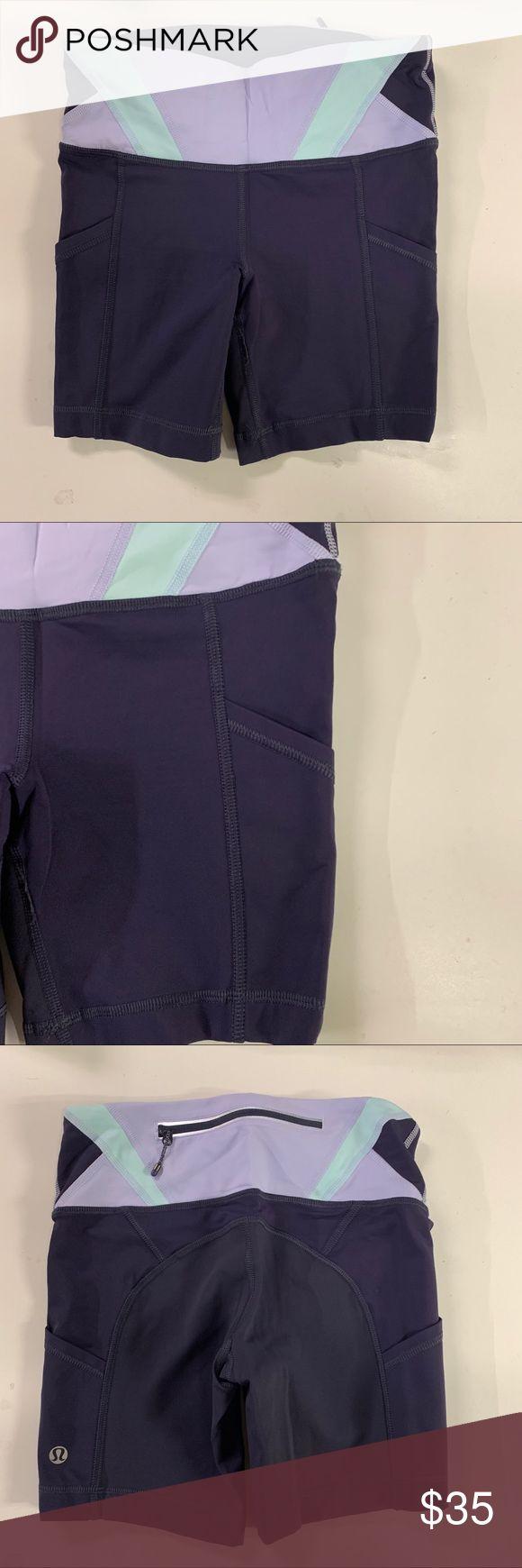 Lululemon Purple Biker Shorts Used like new. No noticeable flaws. Side pockets. …   – My Posh Picks