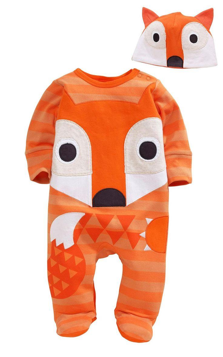 Cartoon Animal Fox Owl Baby Boys Girls Newborn Romper Playsuit Outfits Set 0-24M